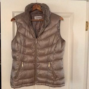 Calvin Klein Gold down filled vest!